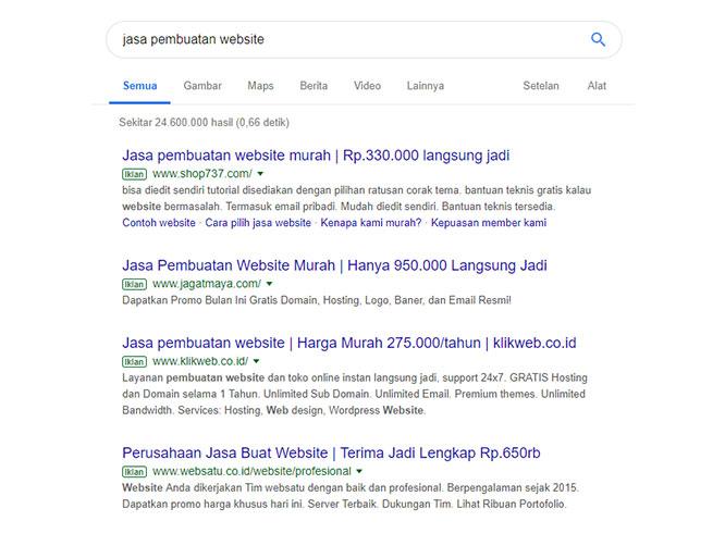 contoh google adwords