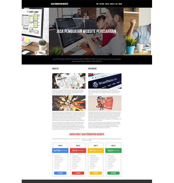 contoh tampilan web yang menarik